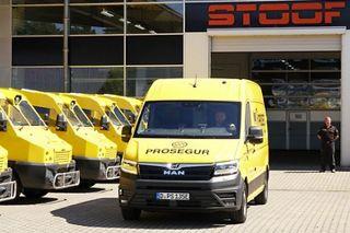 Światowa premiera elektrycznego furgonu do transportu pieniędzy